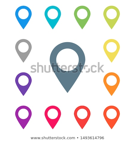blue map marker  Stock photo © maximmmmum