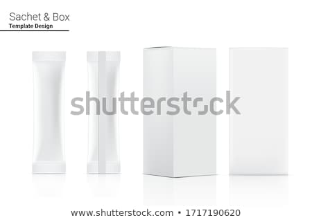 Witte verpakking ketchup saus geïsoleerd voedsel Stockfoto © konturvid