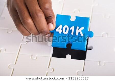 Pension texte bleu blanche rendu 3d santé Photo stock © tashatuvango