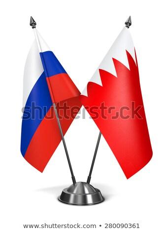Russia Bahrain miniatura bandiere isolato bianco Foto d'archivio © tashatuvango
