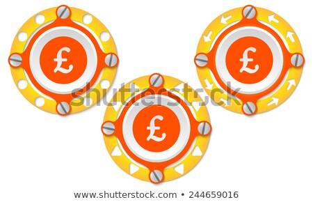 фунт икона металл кольца иллюстрация знак Сток-фото © nickylarson974