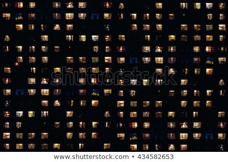Zdjęcia stock: Starych · żółty · budynku · Windows · wysoki