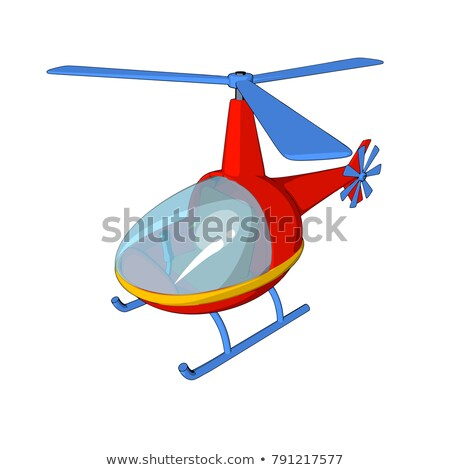 Cartoon · стиль · красный · вертолета · путешествия · лет - Сток-фото © kariiika