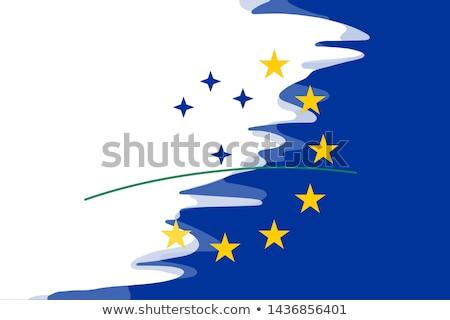 Európai szövetség Uruguay zászlók puzzle izolált Stock fotó © Istanbul2009