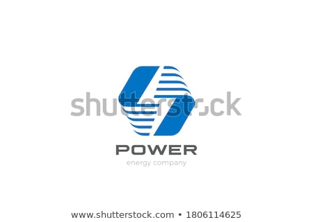 energy sign and symbol square vector yellow icon stock photo © rizwanali3d