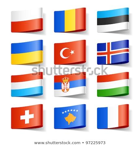Svájc Ukrajna zászlók vektor kép puzzle Stock fotó © Istanbul2009