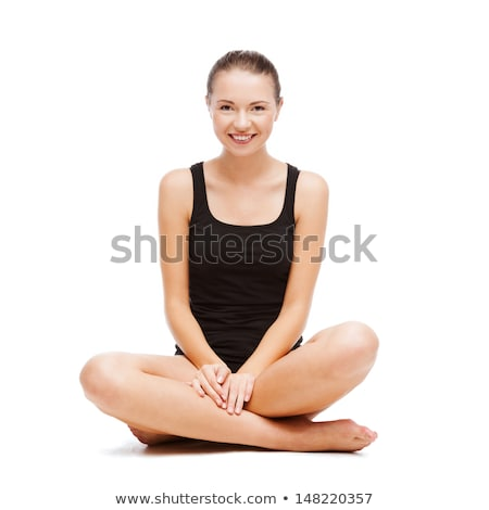 woman sits in black panties Stock photo © ssuaphoto