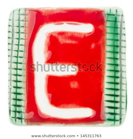 Handmade ceramic letter E  Stock photo © Taigi