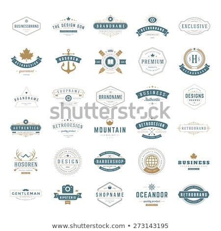 Ayarlamak logolar giysi iş moda soyut Stok fotoğraf © shawlinmohd