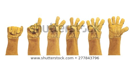 industrielle · jaune · caoutchouc · travaux · gants - photo stock © rekemp