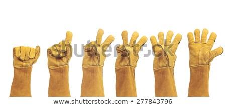 промышленных желтый резиновые работу перчатки Сток-фото © rekemp