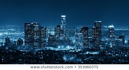 antenne · Los · Angeles · centrum · kantoor · gebouw · snelweg - stockfoto © andreykr