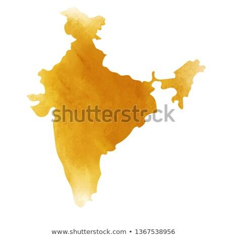 suluboya · boyama · Hint · harita · örnek · mutlu - stok fotoğraf © vectomart