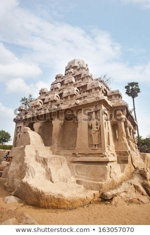 Turistas antigo templo distrito Índia céu Foto stock © imagedb