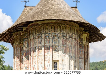 Detail Of Humor Monastery Church Foto stock © FrimuFilms