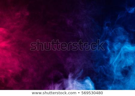 Soyut mavi duman su boyama siyah Stok fotoğraf © inoj