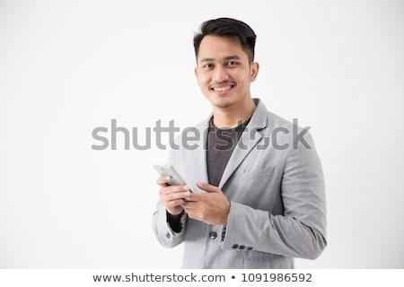 インドネシアの ビジネスマン 興奮した 親指 アップ 40年代 ストックフォト © yongtick