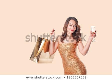 vrouw · handen · gouden · manicure · sieraden · kostuum - stockfoto © victoria_andreas