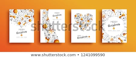 Stockfoto: Polygon Christmas Deer Vector Set