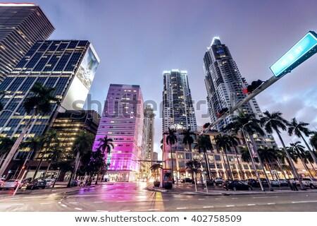 şehir merkezinde Miami kentsel şehir gökdelenler binalar Stok fotoğraf © lunamarina