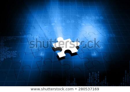エネルギー ジグソーパズル 行方不明 ピース 明るい 緑 ストックフォト © tashatuvango