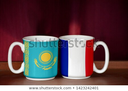 france and kazakhstan flags stock photo © istanbul2009
