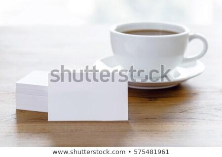 para · cima · outro · cartão · de · visita · papel - foto stock © punsayaporn