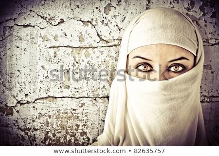 Retrato mulher Árabe traje ao ar livre menina Foto stock © dashapetrenko