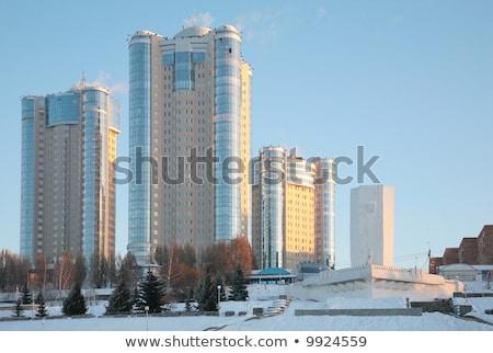 új · épületek · tél · üzlet · pénz · fal - stock fotó © Paha_L