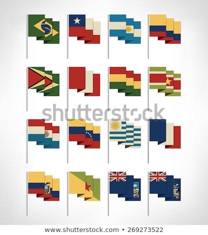 Brazília dél Grúzia szendvics szigetek zászlók Stock fotó © Istanbul2009