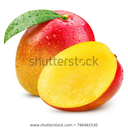 マンゴー 白 葉 葉 オレンジ 緑 ストックフォト © anonedsgn