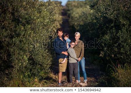 Portrait of a blonde in the orchard Stock photo © majdansky