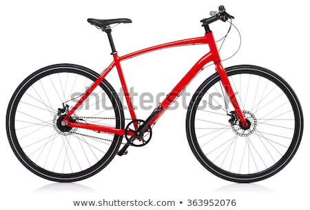 new red bicycle isolated on a white stock photo © vlad_star