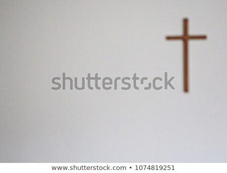 Atravessar parede assinar igreja religião fundo Foto stock © Klinker