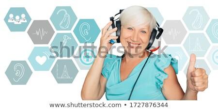 ヘッドホン 医師 サウンド ライフスタイル チェック フォーム ストックフォト © fotoquique