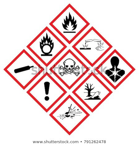 tehlike · uyarı · üçgen · kimyasal · silah · imzalamak - stok fotoğraf © ayaxmr