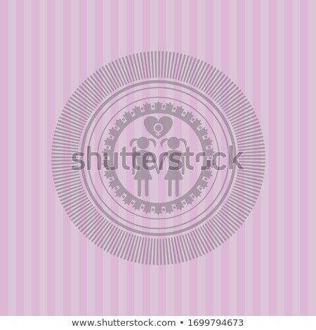 Lesbian Paper Buttons Stock photo © limbi007