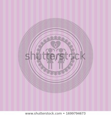 Lesbiennes papier boutons blanche eps 10 Photo stock © limbi007