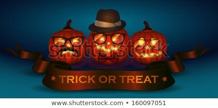happy halloween typographical background eps 10 stock photo © beholdereye