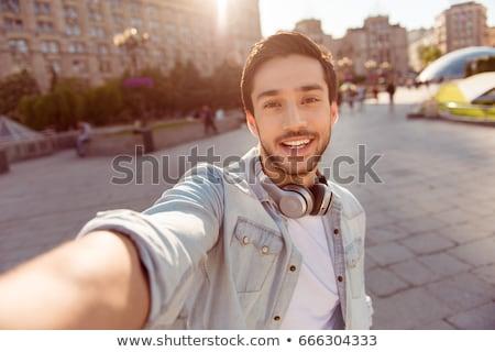 Mode outdoor foto stijlvol knappe man elegante Stockfoto © konradbak