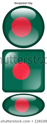 Bangladesh vlag ovaal knop zilver geïsoleerd Stockfoto © Bigalbaloo