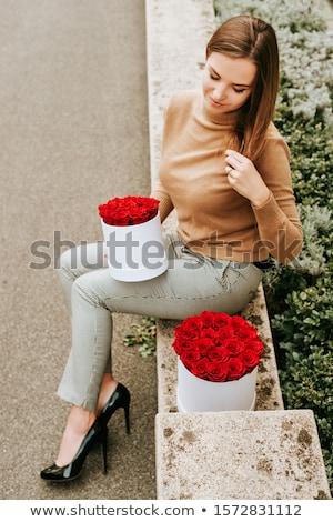 vrouw · naar · kwetsbaar · portret · sexy · jonge · vrouw - stockfoto © artfotodima