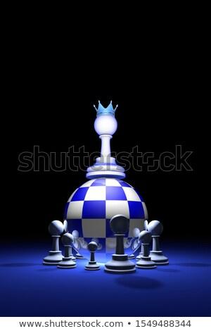 új · vezető · sakk · metafora · 3D · renderelt · kép - stock fotó © grechka333