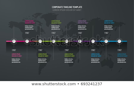 Dark Infographic Timeline Template with pointers Stock photo © orson