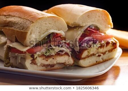 Chicken sub sandwich Stock photo © Digifoodstock
