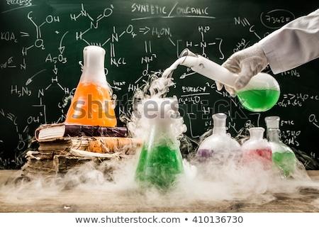 Bilim deney genç kız mutlu okul Stok fotoğraf © ndjohnston