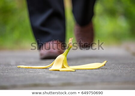 Banana Peel Step Stock photo © blamb