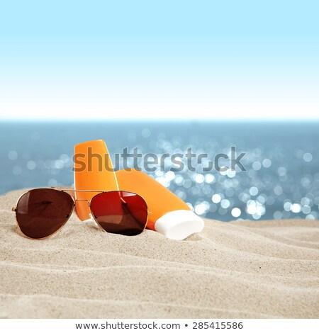 Opalenizna oleju plaży ilustracja morza lata Zdjęcia stock © adrenalina