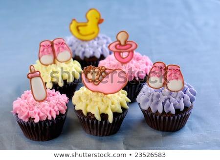 Torta keresztség baba női illusztráció lány Stock fotó © adrenalina