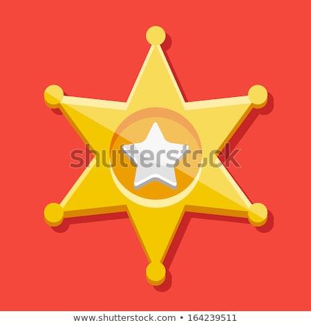 Star sheriff wild west iconen geïsoleerd Stockfoto © konturvid